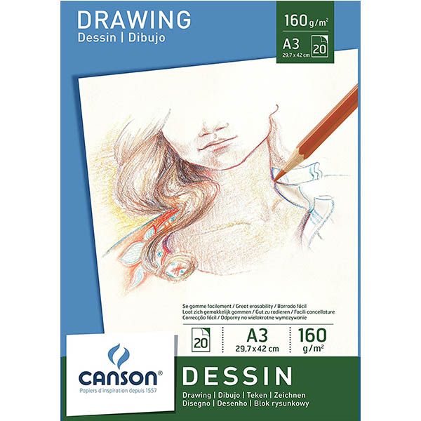 Canson White Drawing Paper Pads - A3