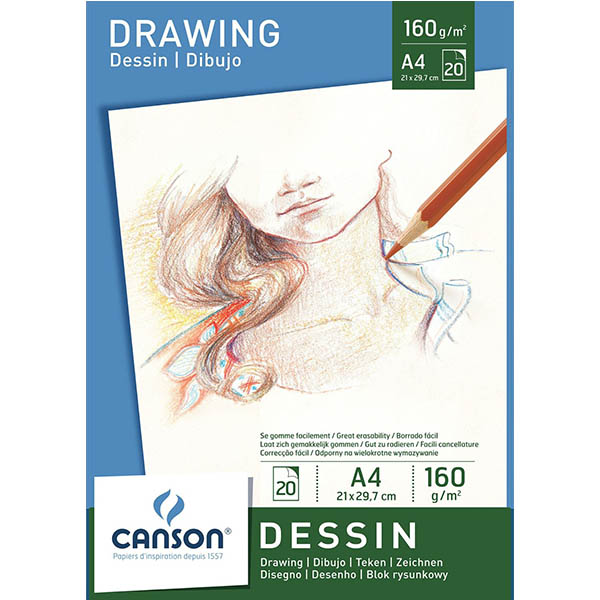 Canson White Drawing Paper Pads - A4