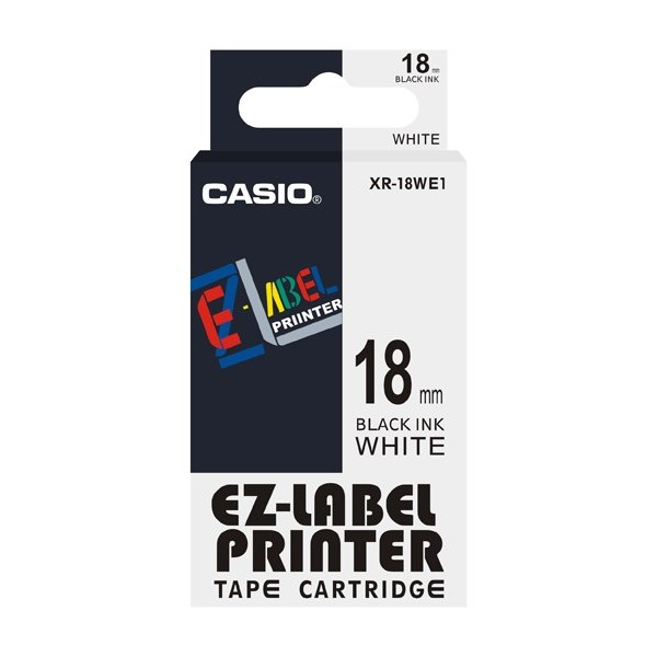 Casio Label xr-18we1 tape cassette black on white 18mm*8m (pc)