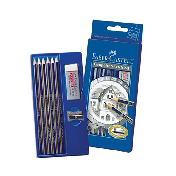 Faber Castell Gold Faber Degree Pencil (6B) FCI114000 (pkt)