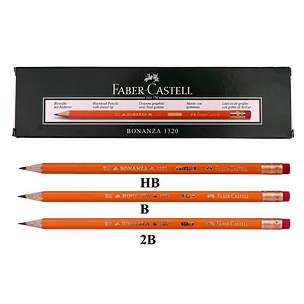 Bonanza Black Lead Pencil Faber Castell FCI1320 (pkt/12pc)