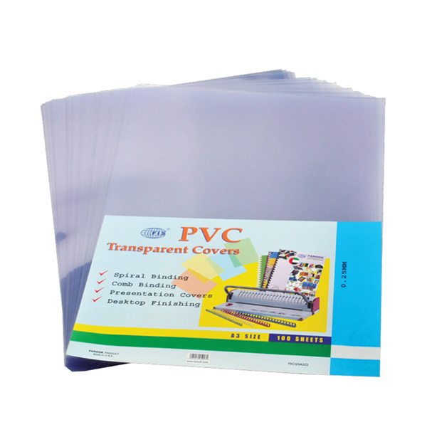 Binding Sheet A3 200mic PVC Clear FIS (pkt)