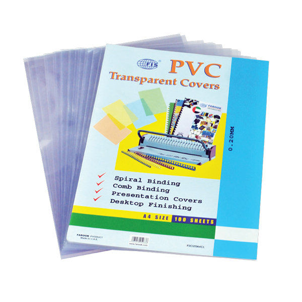 Binding Sheet A4 200mic Clear FIS transparent cover (pkt/100pc)