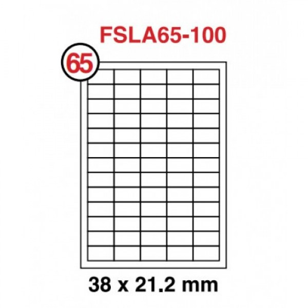 FIS High Glossy A4 White Label sticker  (12sheets) (pkt)