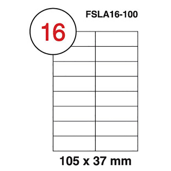 FIS Label laser A4 105*37mm (100sheets) (pkt)