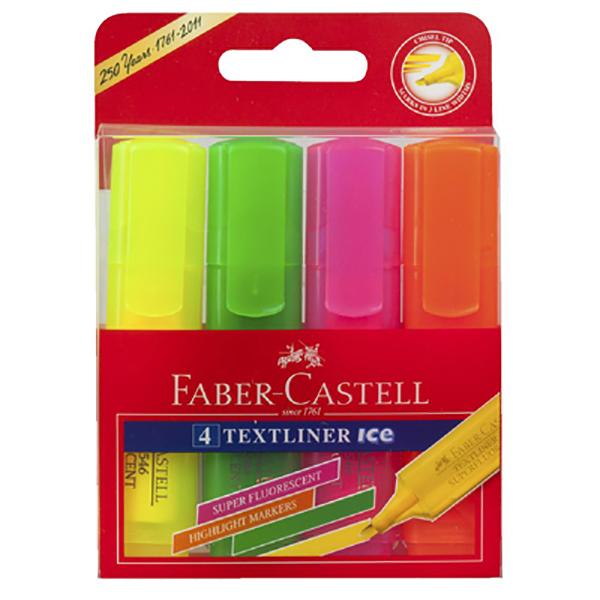 Super Fluorescent Highlighter Wallet of 4 Faber Castell (pkt/4)