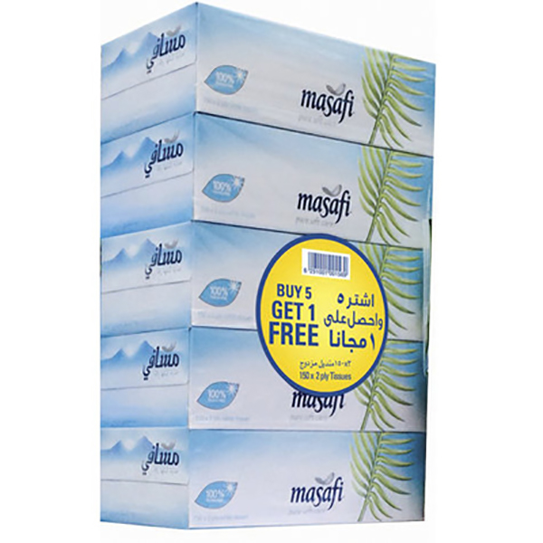 Facial Tissue Soft Wht 150*6 (Pack)