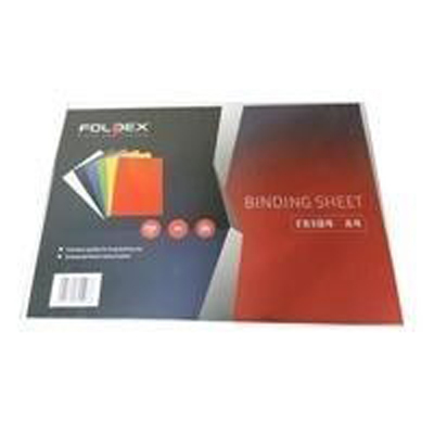 Binding Sheet A4 230g black Foldex FX106A4 (pkt)