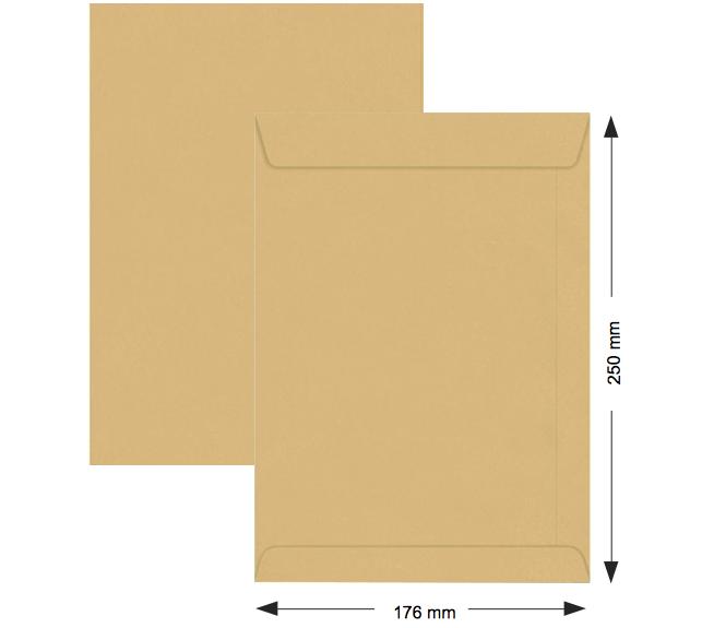 Hispapel 10*7 90g Dex Man.Envelopes (pk/50pc)