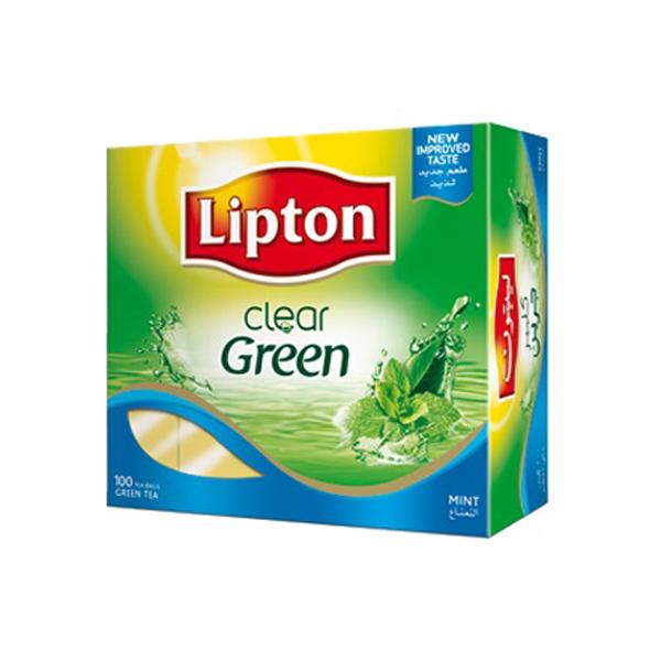 Lipton Green Tea Bag Clear 100 (ea)