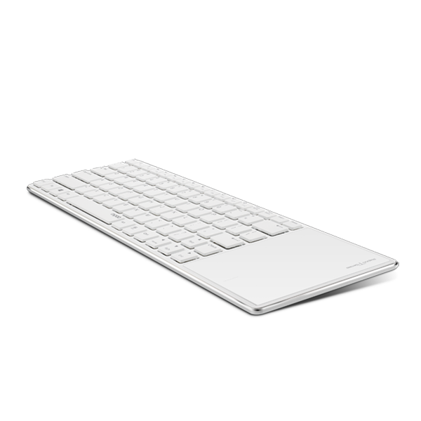 RAPOO KEYBOARD ULTRA SLIM BLUETOOTH WITH TOUCHPAD E6700- WHITE
