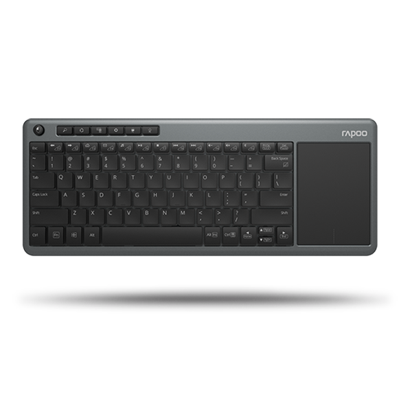 RAPOO KEYBOARD WIRELESS WITH TOUCHPAD K2600- BLACK