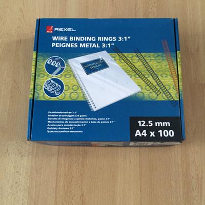 Binding Ring Rexel 12,5mm black (Pk/100pc)
